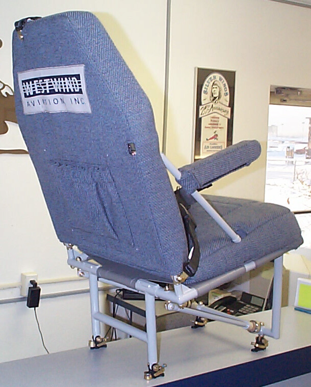Quick Fold Single Seat viewed from the back.